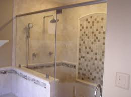 tile shower base glass windows covwring horizontal blind home