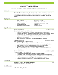 Resume Pro Best Commercial Parts Pro Resume Example Livecareer