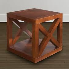 wood cube end table wooden motif designed cube table bassett furniture