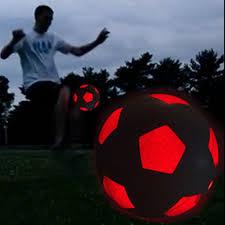 light up led soccer ball uses 2 hi bright led lights size 5