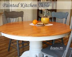 Everyday Art Painted Kitchen Table - Painting kitchen table