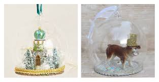 treasuries in miniature snowdome christmas decorations snowglobes