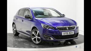 peugeot purple peugeot 308 gt line magnetic blue youtube