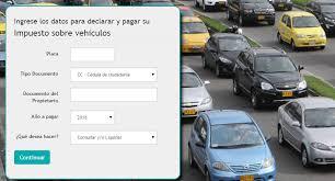 impuestos vehiculos valle 2016 pago de impuesto vehiculo cundinamarca2016 cómo pago el impuesto