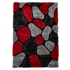 Red Rug Noble House Nh 5858 Grey Red Rug Therugshopuk