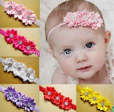 bando headbands satin ribbon flowers headbands newborn headbands toddle headbands