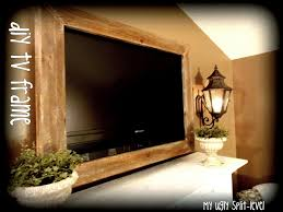my ugly split level diy barn wood tv frame diy home pinterest