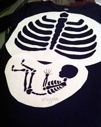 Cute Maternity Halloween Shirts Pregnant Skeleton Costume Pharma