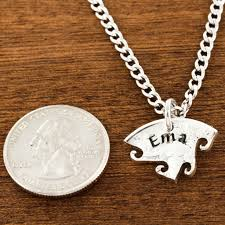Custom Name Necklaces 4 Best Friend Necklace Custom Name Necklaces Interlocking Puzzle