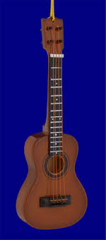 mini plain ukulele ornament large 5 1 2