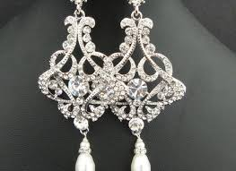 Chandelier Pearl Earrings For Wedding Antique Silver Chandelier Pearl Earrings Wedding Chandelier Pearl
