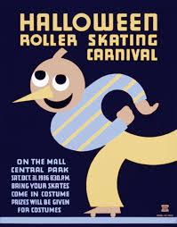 file halloween roller skating carnival wpa poster 1936 jpg