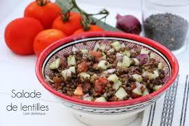 cuisine lentilles vertes salade de lentilles vertes et crudités