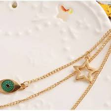 choker necklace with pendant images Top fashion women girls multi layered choker necklace cross evil jpg