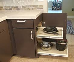 storage kitchen ideas image of a blind corner cabinet that opens on the end so shelves