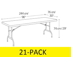8 ft banquet table dimensions lifetime 21 table bulk pack white 8 ft banquet tables sale today