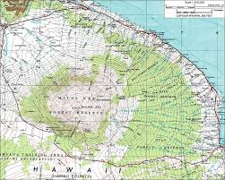 Hawaii State Map by Mauna Kea Hawaii State Highpoint