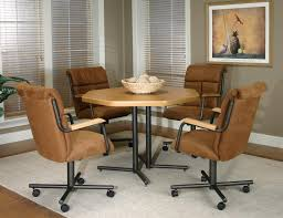 Upholstered Dining Room Chairs With Casters by Dining Room Chairs With Wheels Oak Dining Room Chairs Caster