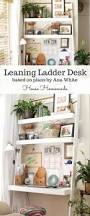 Leaning Shelves Woodworking Plans by Diy Desk Made With All 1x Boards Small Space Office Ana White