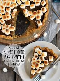 thanksgiving yams with marshmallows recipe spiced sweet potato pie with marshmallow topping mom on timeout