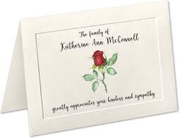 thank you cards for funeral sympathy acknowledgement cards funeral thank you cards custom