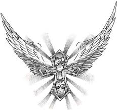 cross and wings design