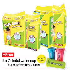 Super Colorful Malaysia Brand Baby Like Super Pants Superior Absorbency 2 Packs