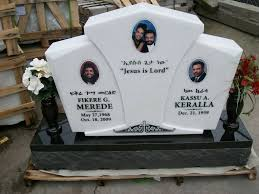 Flat Grave Markers With Vase Crystal White Upright Grave Marker With Absolute Black Base
