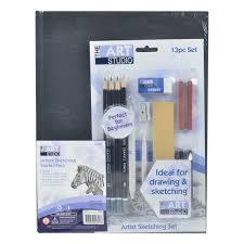 art studio hardbound sketch book starter pack riot art and craft