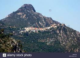 mountaintop tiny village of bonson in the var valley in the