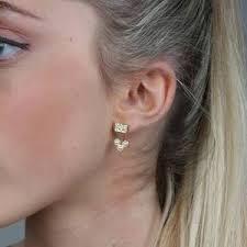 two way earrings three pearls two way earrings theatticstore uk