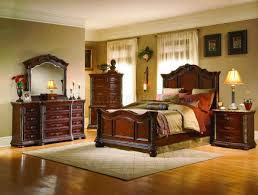cherry finish mediterranean classic 5pc bedroom set w marble top