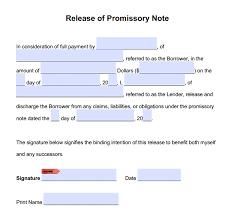 promissory note release form adobe pdf u0026 microsoft word