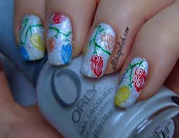 Christmas Light Nails by All This Polish December 2012