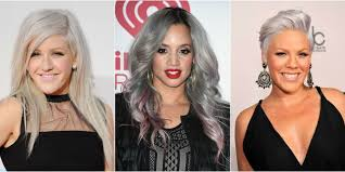hairstyles for turning grey 13 silver hair color ideas celebrity silver hair dye shades