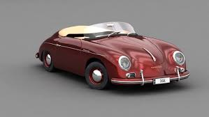 old porsche speedster porsche 356 speedster 1950 model turbosquid 1222393