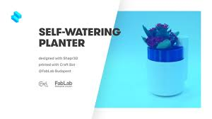 design and 3d print a self watering planter with shapr3d youtube