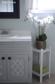 what paint is best for bathroom cabinets before after my pretty painted bathroom vanity