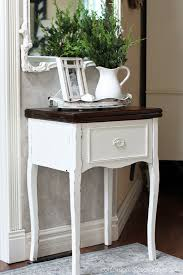 White Sewing Machine Cabinet by Simple Sewing Table Makeover Confessions Of A Serial Do It