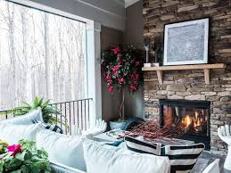 Screen Porch Fireplace by Pictures Of The Hgtv Smart Home 2016 Screened Porch Discover