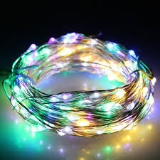 drop down christmas lights 10m plug in 12v led diy bendable micro rice wire copper fairy string