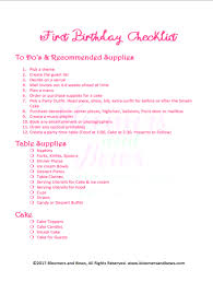 how to plan a first birthday party bloomers and bows