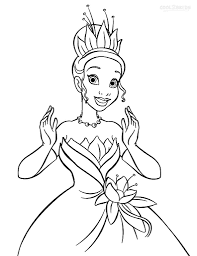 the princess and the frog coloring pages for kids u2013 free printables