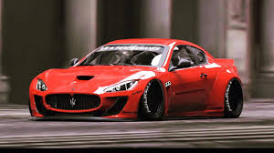 maserati granturismo red first widebody liberty walk maserati granturismo previewed gtspirit