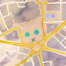 Stamen Maps Watercolor Citytracking