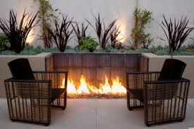 gas fire pit table on wood deck pits at also contemporary outdoor