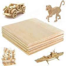 20pcs wooden plate model balsa wood diy house ship aircraft light