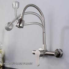 wall mount kitchen faucets wall mounted kitchen faucets brushed sus304 water mixer taps and