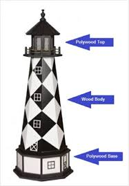 solar lighthouse light kit hybrid wood and poly lawn lighthouses for sale