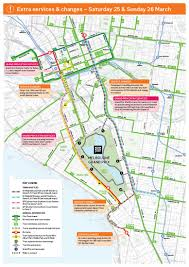 melbourne tram map yarra trams map of service changes trams